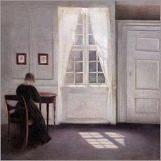 Gallery print  Interior with sunlight on the floor - Vilhelm Hammershøi