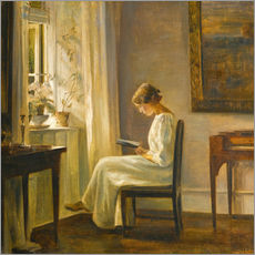 Wall sticker  Woman reading - Carl Holsøe