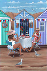 Wall sticker  Beach Huts Afternoon Tease (Variant 1) - Peter Adderley