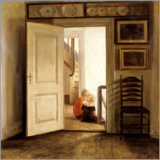 Premium poster  Children in an Interior - Carl Holsøe