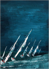Wall sticker Sailboats, abstract