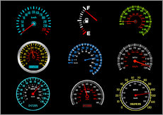 Gallery print  Speedometers for mph Fans