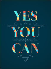Wall sticker  Yes You Can - Typobox