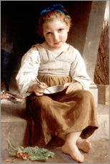 Gallery print  The slurry, little girl eating his soup - William Adolphe Bouguereau