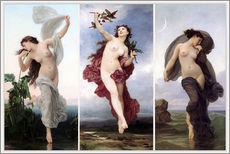 Gallery print  The times of day (Triptych) - William Adolphe Bouguereau