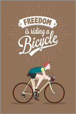 Wall sticker Freedom is riding a bicycle