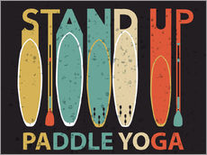 Gallery print  Stand up paddle yoga - Typobox