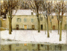 Gallery Print  Small square on the waterfront - Henri Le Sidaner