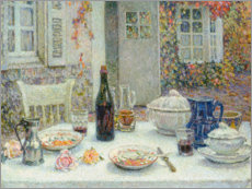 Wall Sticker  The set table in front of the house - Henri Le Sidaner