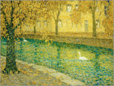 Wall sticker  Le Canal, Annecy - Henri Le Sidaner