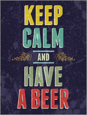 Gallery print  Keep calm and have a beer - Typobox