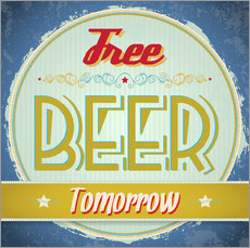 Wall Stickers  Free beer tomorrow