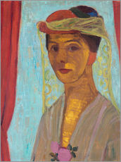 Gallery print  Paula Modersohn-Becker with hat and veil - Paula Modersohn-Becker