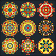 Wall Stickers Mandala variations