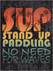 Gallery Print  Stand up paddling