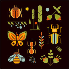 Gallery Print  Retro Insects