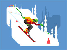 Wall Stickers  Professional skier