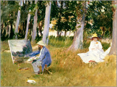 Gallery print  painting Claude Monet, near the forest - John Singer Sargent