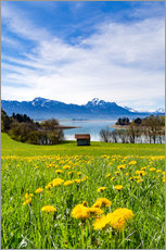 Wall sticker  Bavarian Landscape with Mountains - Michael Helmer