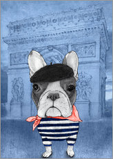 Wall sticker  Frenchie With Arc De Triomphe - Barruf