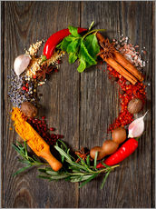 Gallery print  wreath of spices and herbs