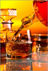 Gallery print  glass with whiskey and ice
