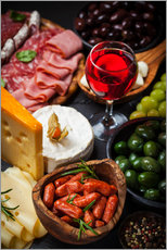 Wall sticker  Antipasti and red wine