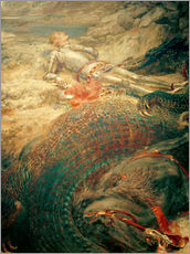 Gallery print  Saint George and the Dragon - Briton Riviere