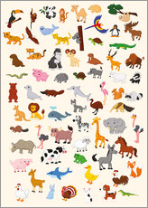 Wall Stickers  Animal World - Kidz Collection