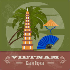 Wall sticker Vietnam - Kuang, Pagoda