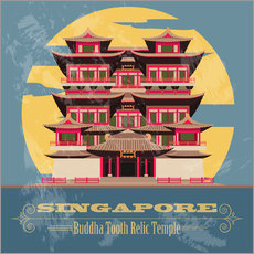 Wall sticker Singapore - Buddha Tooth Relic Temple