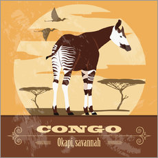 Wall sticker  Congo - Okapi - Kidz Collection