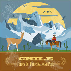 Wall sticker  Chile - Torres del Paine