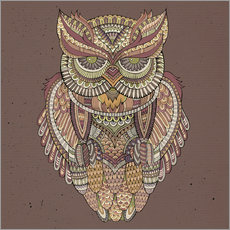 Wall sticker  Owl - colours of the forest