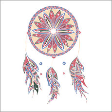 Gallery print  Dream Catcher red-blue