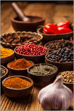 Wall sticker  Colorful spices in bowls