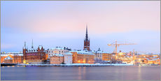Wall Stickers  Panoramic cityscape of Stockholm, Sweden