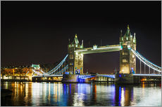Wall sticker  Tower bridge at night