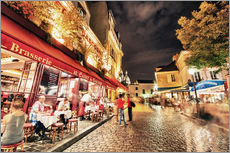 Wall sticker  Montmartre streets at night