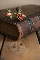 Gallery Print  Dry rose and old book - Jaroslaw Blaminsky
