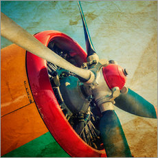 Gallery print  Rotor Blades of a Military Plane