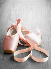 Wall sticker  Pink Ballet Shoes
