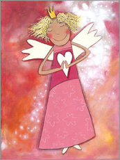 Wall Stickers  Blonder guardian angel for girls - Atelier BuntePunkt