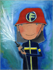 Gallery print  My little hero Fireman Julius - Atelier BuntePunkt