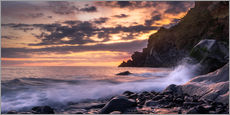 Gallery print  Sunset at Rocky Beach on Madeira - Andreas Wonisch