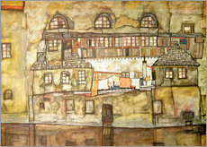 Wall Sticker  house wall on the river  - Egon Schiele