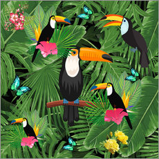 Wall sticker  Toucan - Mark Ashkenazi