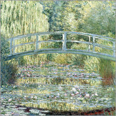 Gallery print  water lily pond symphony in green - Claude Monet
