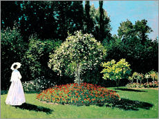Gallery Print  Woman in a Garden - Claude Monet