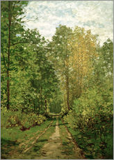 Gallery print  Forest path - Claude Monet